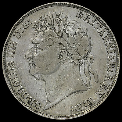 1822 George IV Milled Silver Tertio Crown – GF