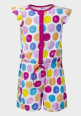 Bnwot Girls Ex George Multi Colour Spot Playsuit Ages 2-3, 3-4 & 6-7 Only