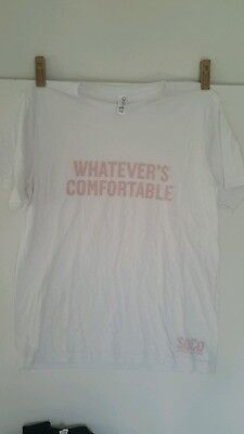 Southern Comfort Whatever's Comfortable White DiSTRESSED T shirt Men's Large
