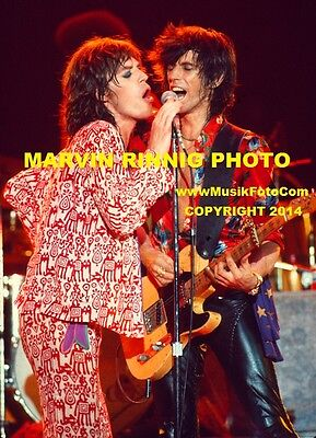 ROLLING STONES PHOTO MICK JAGGER,KEITH RICHARDS 8x11 pic 1975