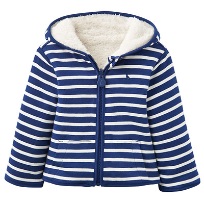 Joules Baby Boy Fleece Navy Stripe InfJames
