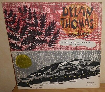 Dylan Thomas reading A Child's Christmas In Wales & five Poems. USA Caedmon
