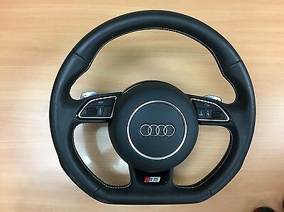 2015 Audi S5 Flat Bottom Steering Complete With Drivers Air Bag + Paddle Shift