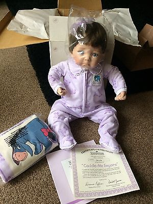 The Ashton Drake Collection Limited Edition Eyeore Baby Doll Bnib!