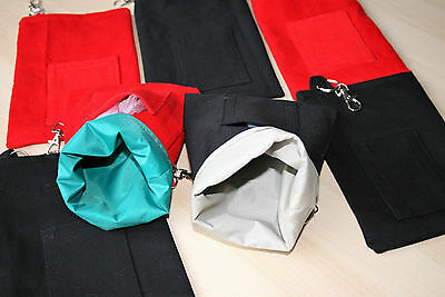 DOG TREAT BAG POUCH Belt Loop Clasp Training Agility Obedience Show in Red Black