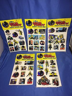 Lot x 5~1990 Disney DICK TRACY Puffy Stick On~Stickers~NEW~LOOK