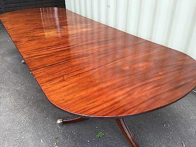 10.9ft GRAND GEORGE III CUBAN MAHOGANY TABLE, PRO FRENCH POLISHED