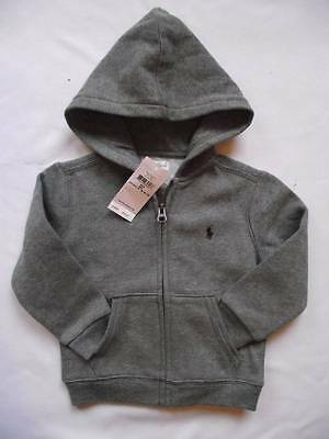 NEW Ralph Lauren Boys Polo Black Hooded Top Hoody Jacket 18-24 months