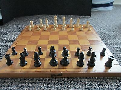 Wooden Chess Pieces And Board