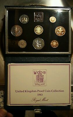 1983 UK proof coin collection set
