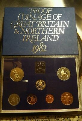 1982 UK proof coin collection set