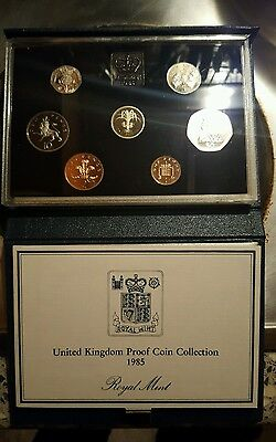 1985 UK proof coin collection set