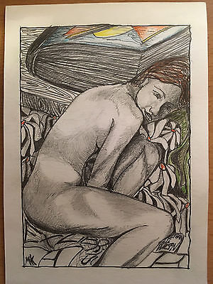 Erotic Ex libris bookplate / MK
