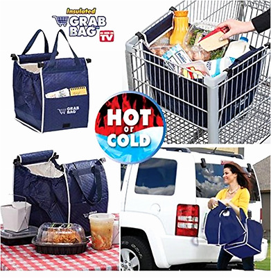 Reusable Shopping Bag Isolates Hot Cold Grocery Grab Bag Easy Clip to Cart