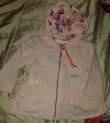New With Tag Ted Baker Baby Girls Hooded Peplum Swt Age 12-18 Months