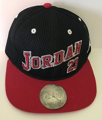 58cfd448b50 Air Jordan Jumpman Hat Youth Snapback Size 8 20 Black Gym Red Adjustable NWT
