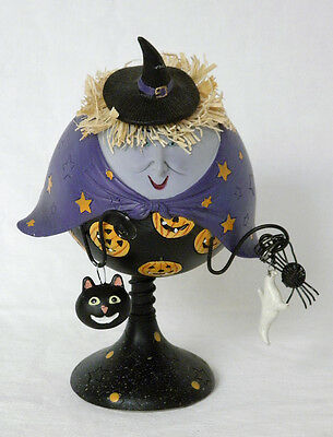 Retro Witchy Bank w/ Removable Cat Ghost & Spider Charms. Tii Collections. Resin