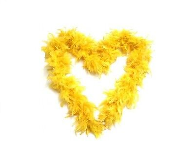85G Thick Real Feather Boa Party Fancy Dress Burlesque Yellow Luxury Boa 1.9M