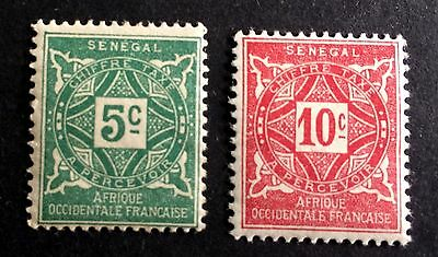 2 old unused stamps Senegal french colonie / Afrique Occidentale Francaise
