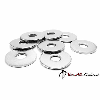 M3 M4 M5 M6 M8 M10 M12 Penny Repair Washers A2 Stainless Steel Mudguard Washers