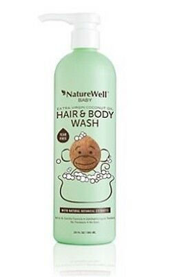 20 Fl. oz. 2-in-1 Natural Botanical Extracts Coconut Oil Baby Shampoo Body Wash