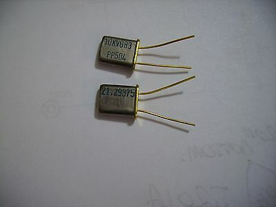 Two x 21.29375Mhz crystal xtals in HC45U holders