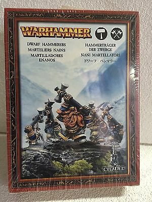 GAMES WORKSHOP Warhammer FANTASY enanos MARTILLADORES, Nuevo