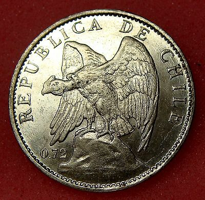Chile, 1 Peso 1915, Km# 152.4, Nice Silver Coin, Lot 15