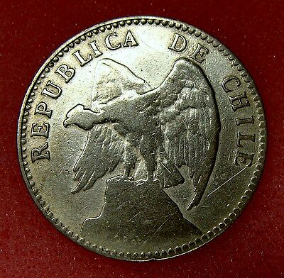 Chile, 20 Centavos 1920, Km# 151.3, Nice Silver Coin, Lot 23