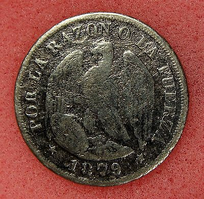 Chile, 20 Centavos 1879, Km# 138.1, Nice Silver Coin, Lot 37