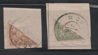 Curacao 1918- Bisect Stamps Scott Catalog #48-49 (Lot #46-60)