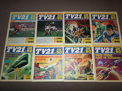 TV21 and Joe 90 comic 1969-1970 x 8 - Excellent condition