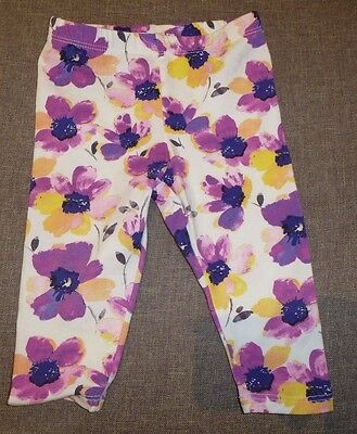 DKNY baby girl leggings ADORABLE 3-6 months Great Condition floral purple pink