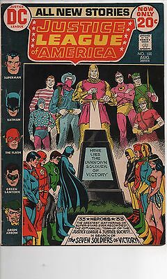 Justice League Of America #100 Vf Seven Soldiers Of Victory!