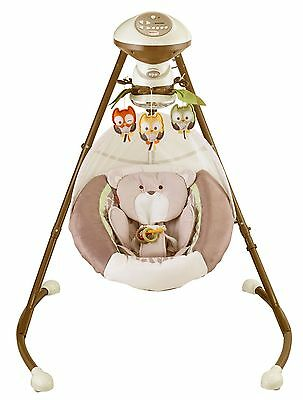 Fisher-Price My Little Snugabear Cradle 'n Swing Motorized mobile with owl toys