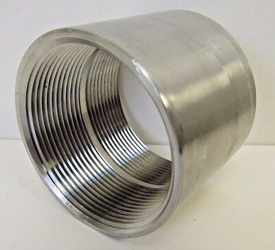 New 3 Inch Fnpt Straight Coupling 304 Stainless Steel Class 150 Nib
