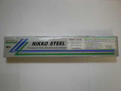 316L Stainless Steel 2.6mm x 300mm x 1kg Arc Welding Electrodes / Rods / Stick