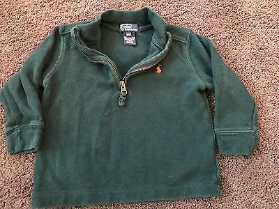 Boys Toddler Polo Ralph Lauren Pullover Sweater Green Size 2t