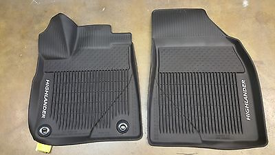 Toyota Highlander 2014 - 2019 All Weather Floor Liners Genuine OEM Set of 3