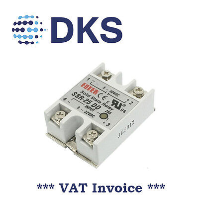 Solid State Relay Module SSR-25DD 25A /60V 3-32V DC Input 5-60VDC Output