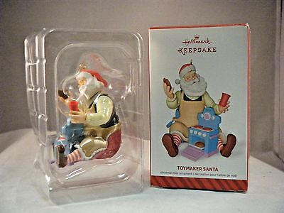 2014 Hallmark  Toymaker Santa  15th in series Mint in  Box    SIGNED