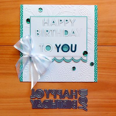 "Die-Namics Pop-Up ""happy Birthday To You"" Sentiment Cutting Dies ""reduced"" Bnip"