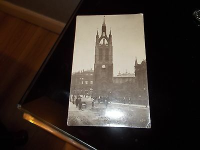Black & White Postcard. Newcastle Cathedral. Posted1913 With Green Halfpenny St