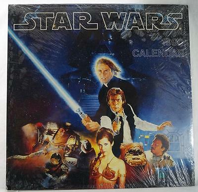 Vintage Star Wars 1990 Calendar Sealed