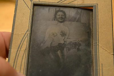 Vintage, Tintype, Circus, Fair, Mermaid, Picture, Boards, Picture, Stand, 1900's