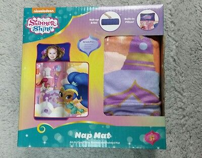 Shimmer And Shine Nap Mat 3 in 1 Pillow Blanket and Padded Mat New in Box