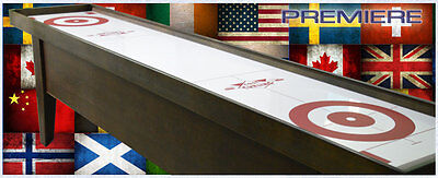 Curling Game Table 10' Premiere Table Curling Game Mahogany ~ Cool Curling