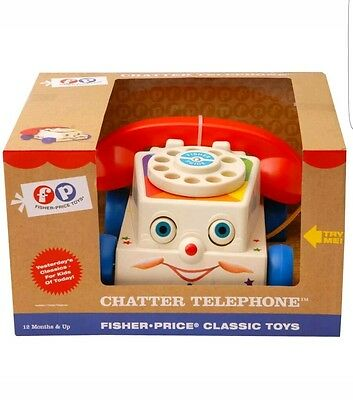 New Fisher Price Vintage Chatter Telephone 016940 kids preschool toy
