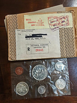 CANADA 6 Coin 80% Silver Proof-Like Set w/ Envelope (Royal Canadian Mint, 1961)