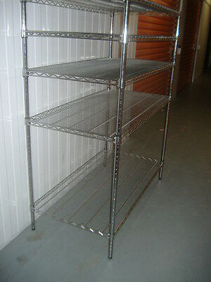 5 Tier Adjustable Chrome Shelving Unit